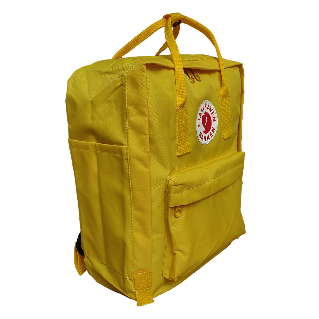 Fjallraven Kanken Classic Backpack In Warm Yellow Fenix Toulouse Royal Blue Pinstripe Pattern