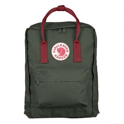 Fjallraven Kanken Classic Forest Green & Ox Red