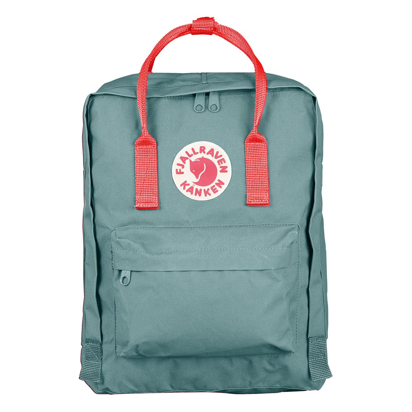 6d69e92679f Fjallraven Kanken Classic Frost Green   Peach Pink - Retro Bags