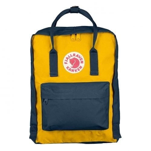 Fjallraven Kanken Classic Navy & Warm Yellow