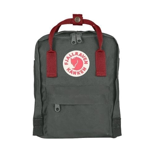 Fjallraven Kanken Mini Forest Green & Ox Red