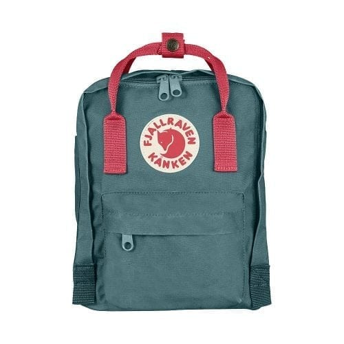 Fjallraven Kanken Mini Frost Green & Peach Pink