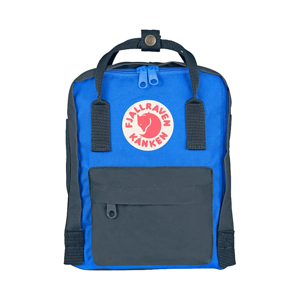 4221ba11f Fjallraven Kanken Mini Graphite & UN Blue - Retro Bags