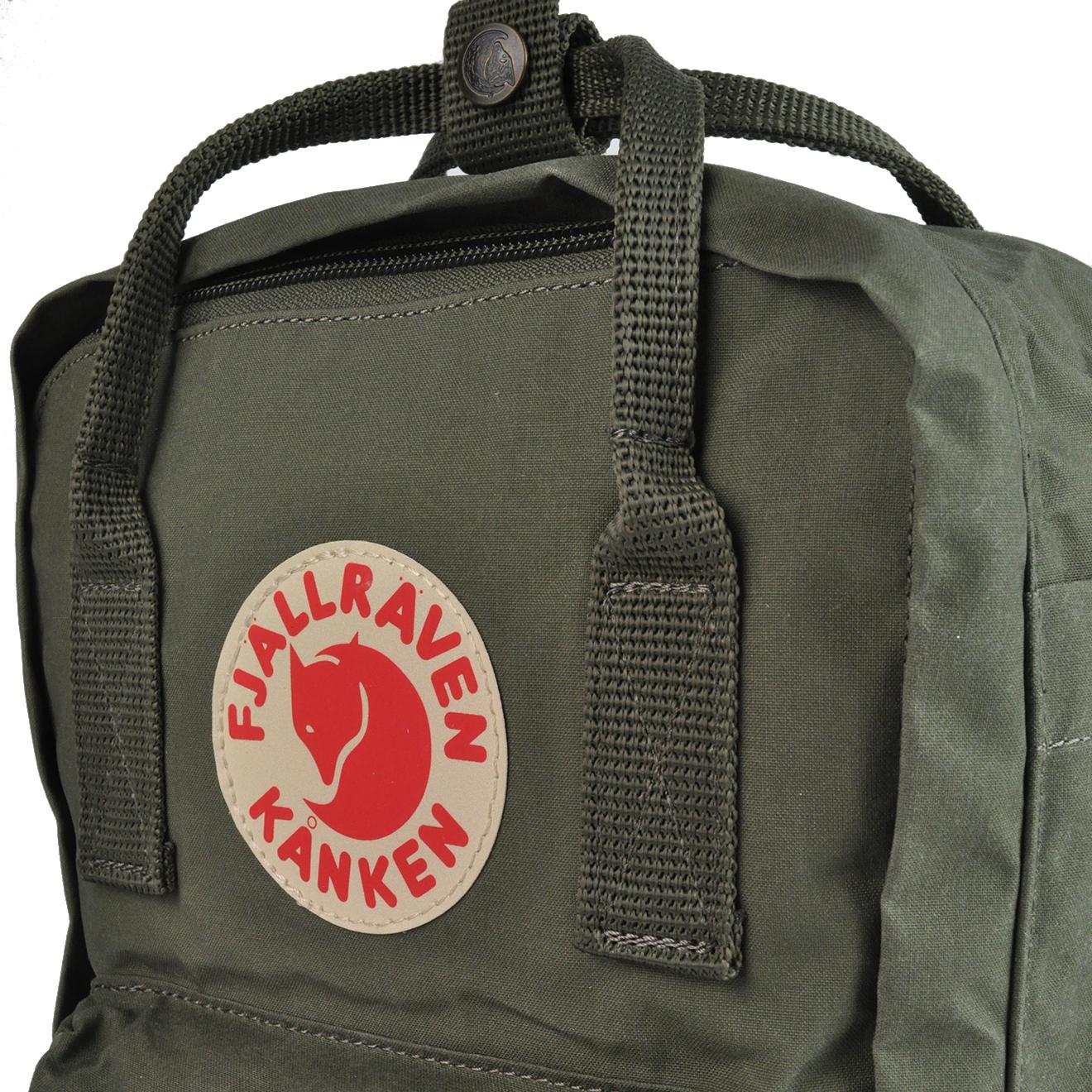 Fjallraven Kanken Forest Green Mini Backpack Black Ox Red Backpackscom