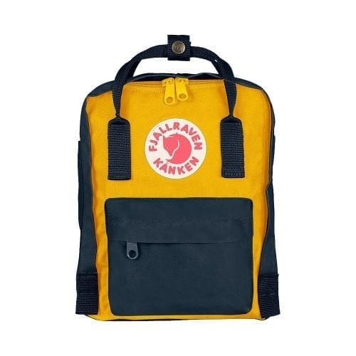 Fjallraven Kanken Mini Navy & Warm Yellow