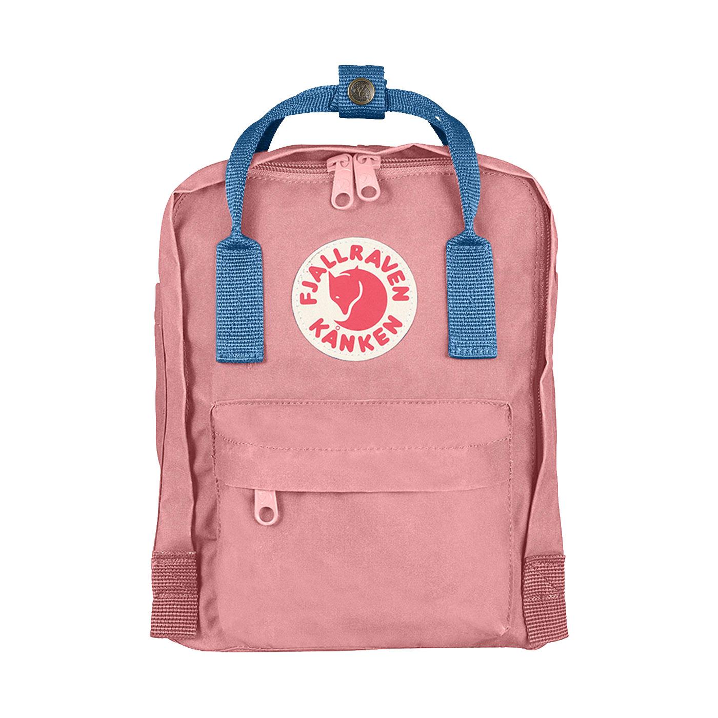 f27e347e4 Fjallraven Kanken Mini Pink & Air Blue - Retro Bags