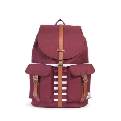 Herschel Dawson Windsor Wine & Tan White Stripes