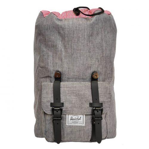 Herschel Little America Raven Crosshatch & Black Backpack