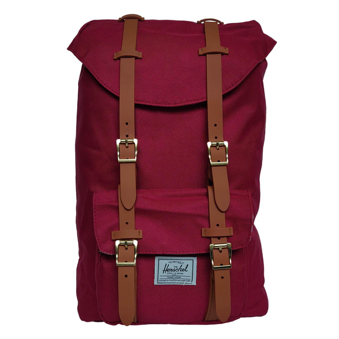 ad0d8bb8048 Herschel Little America Windsor Wine   Tan - Retro Bags