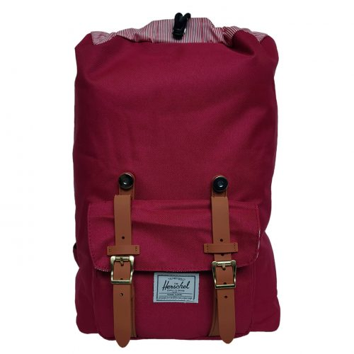 Herschel Little America Wine Red Tan Backpack