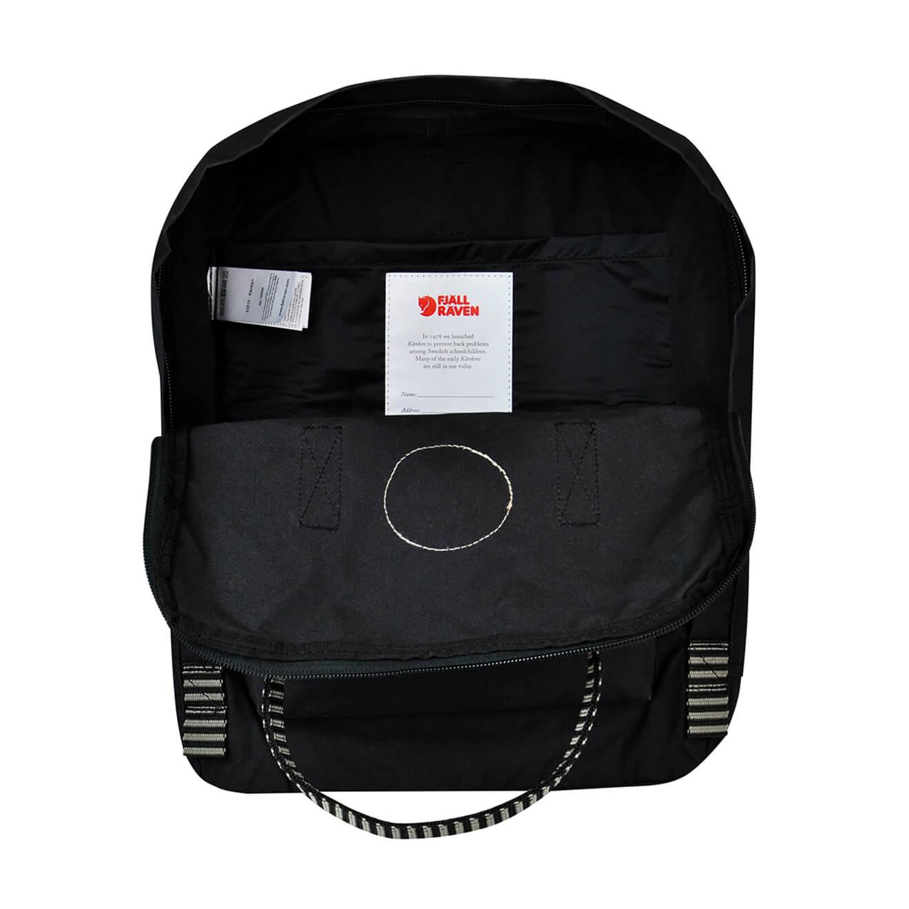 Fjallraven Kanken Classic Black Striped Retro Bags No2 Full