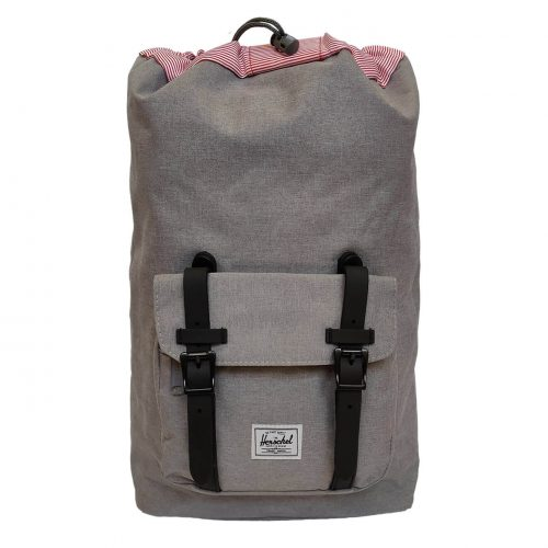 Herschel Little America Grey & Black Rubber Backpack