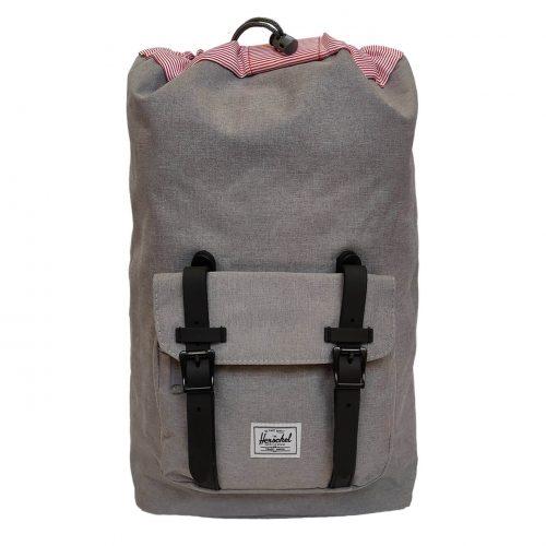 Herschel Little America Grey & Black Rubber Backpack